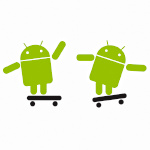 Two Android robots